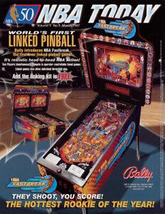 NBA-Fastbreak-Pinball-FLYER-Linked-Version-Original-1997-NOS-Basketball-Game-Art