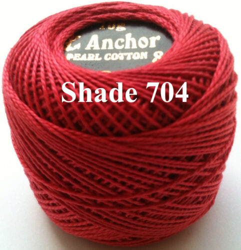 1 ANCHOR Pearl Cotton 8 Crochet Embroidery Thread Ball 1 Flat//Free Postage on 10
