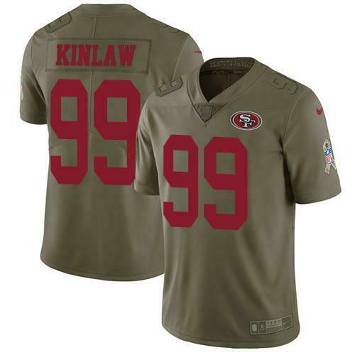 Javon Kinlaw Salute To Service 2017 Jersey 49ers Trikots