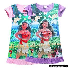 Vaiana-Vestito-Estate-Bambina-Manica-Corta-Summer-Moana-Girl-Dress-DREVA01