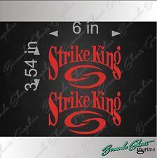 """6/"""" Vehicle Vinyl Decal Watercraft Sticker SINGLE STRIKE KING Fishing Logo"""