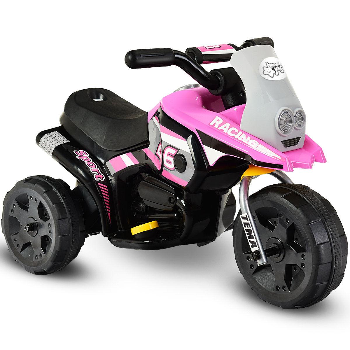 6v kindern mit dem batteriebetriebenen 3 rad fahrrad elektrische spielzeug Rosa neue
