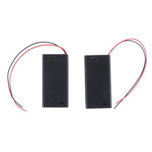 2PCS 3V 2 AA Battery Holder Case with ON/OFF Toggle Switch Box Pack Cov BRPJD$N