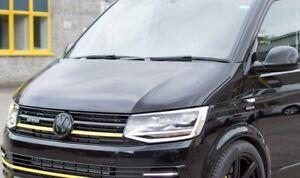 VW-Transporter-T6-Delantero-Trasero-Conjunto-Brillo-Negro-insignia-con-el-logotipo-Sombrero-emblemas