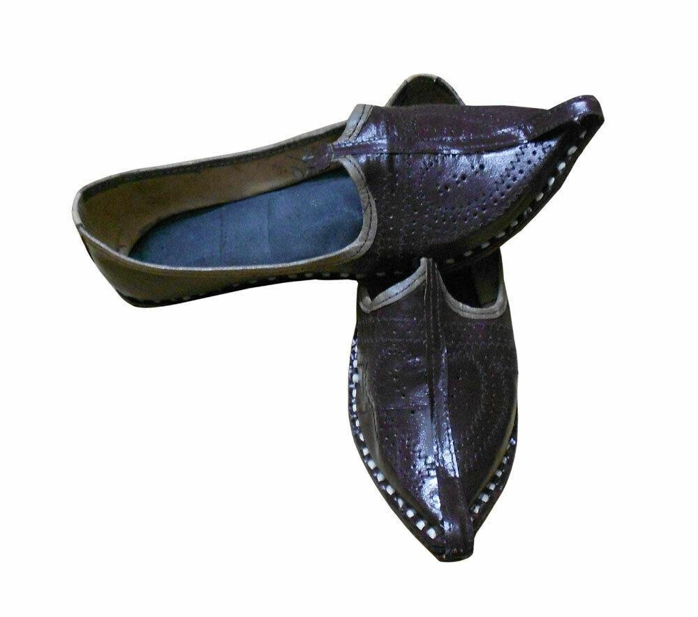Men shoes Indian Handmade Casual Jutties Espadrilles Mojari Flip-Flops Flat US 7