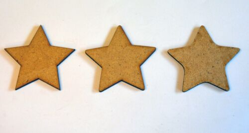 10x Wooden MDF Shapes Stars Blanks Craft Embellishments Decoration Tags 20-120mm