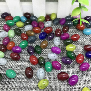 NEW DIY 4x6mm 50PCS Glass Crystal Oval Rugby Spacer Beads Jewelry Making 00