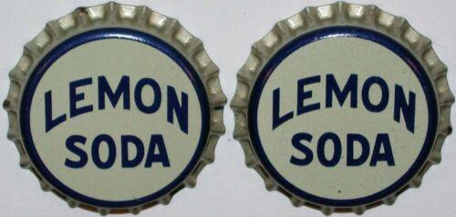 Soda pop bottle caps Lot of 25 LEMON SODA #2 cork lined unused new old stock