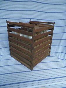 Old Vintage Primitive Wood Egg Carrier Wooden Crate Handle Farm