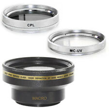 30mm Wide Angle Lens + CPL and MCUV Filters fo Sony PC100, PC110,PC115,HDR-SR10E