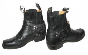 034-SENDRA-BOOTS-034-Herren-Stiefeletten-kurze-Biker-Stiefel-in-schwarz-Gr-41