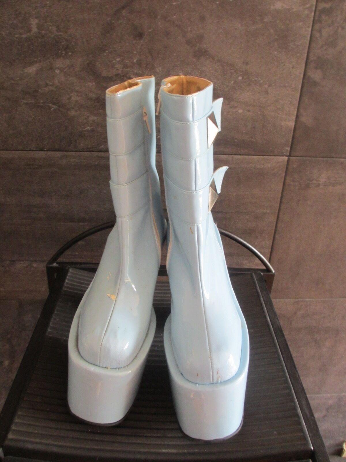 Luchino light blue super high heel boots size 35