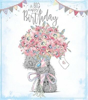 ME TO YOU TATTY TED CUT OUT HAVE A FABULOUS LOVELY BIRTHDAY GREETING CARD