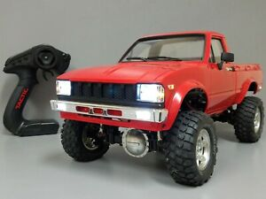 One-of-a-Kind-Custom-Tamiya-1-10-Toyota-RC-Hilux-Pick-Up-Truck-RTR-Light-Battery