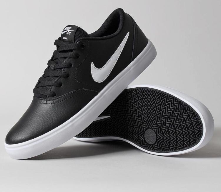 Nike SB Carreaux Noir Solar Homme Femme Noir Carreaux Blanc Chaussures en cuir neuves taille 7105cd