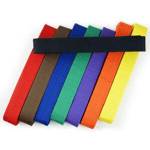 Double Wrap Solid Martial Arts Taekwondo Karate Judo Belt, Size 000-8, 9 Colors