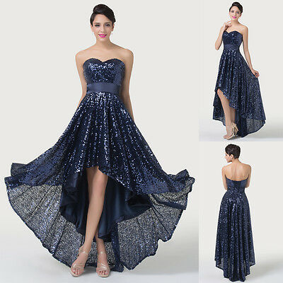 2014 STOCK Sparkling Bridesmaid Evening Party Ball Gown Fishtail Long Prom Dress