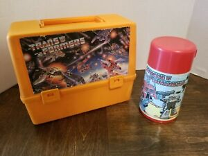 Vintage Transformers G1 Thermos Lunch Box with Thermos