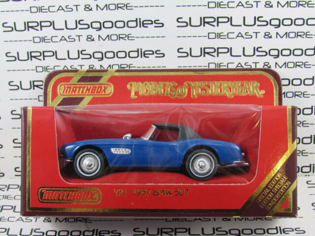 MATCHBOX 1:38 Scale 1987 Models of Yesteryear Blue Y21 1957 BMW 507 Convertible