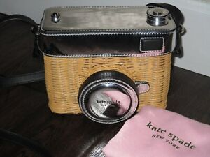 3885b3a98 ... bag; image is loading kate spade new york rose 3d camera crossbody ...