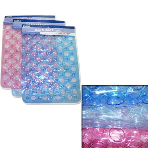 Non-Slip Safety Bathtub Spa Shower Floor Mat  Anti-Skid Firm Suction Cups Base