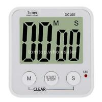 Lcd Clock Stopwatch & Count-down Timer Digital Loud Alarm G2t9 on sale