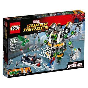 Lego® Marvel Super Heroes 76059 Spider-Man: Le piège à tentacules de Doc Ock Nouvel Ovp_ Nrfb