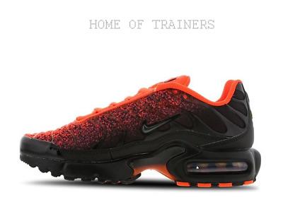 Nike Tuned 1 Jersey Black Wolf Grey Hyper Crimson Kids Boys Girls Trainers eBay  eBay
