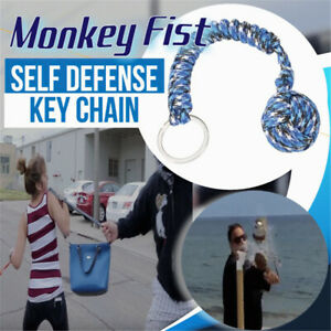 Monkey Fist Paracord Keychain Keyring Military Steel Ball Survival Outdoor Cool