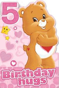 CARE-BEARS-AGE-5-TODAY-5TH-BIRTHDAY-CARD-HUGS-NEW-GIFT