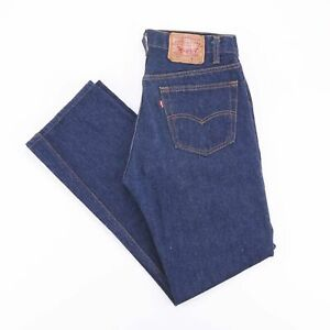 Vintage-Levi-039-s-501-Regular-Straight-Fit-Men-039-s-Blue-Jeans-W32-L31