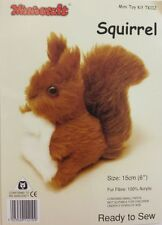 Squirrel Soft Toy Kit - Make Your Own - Cuddly Fur Fabric - Gift Children Sew