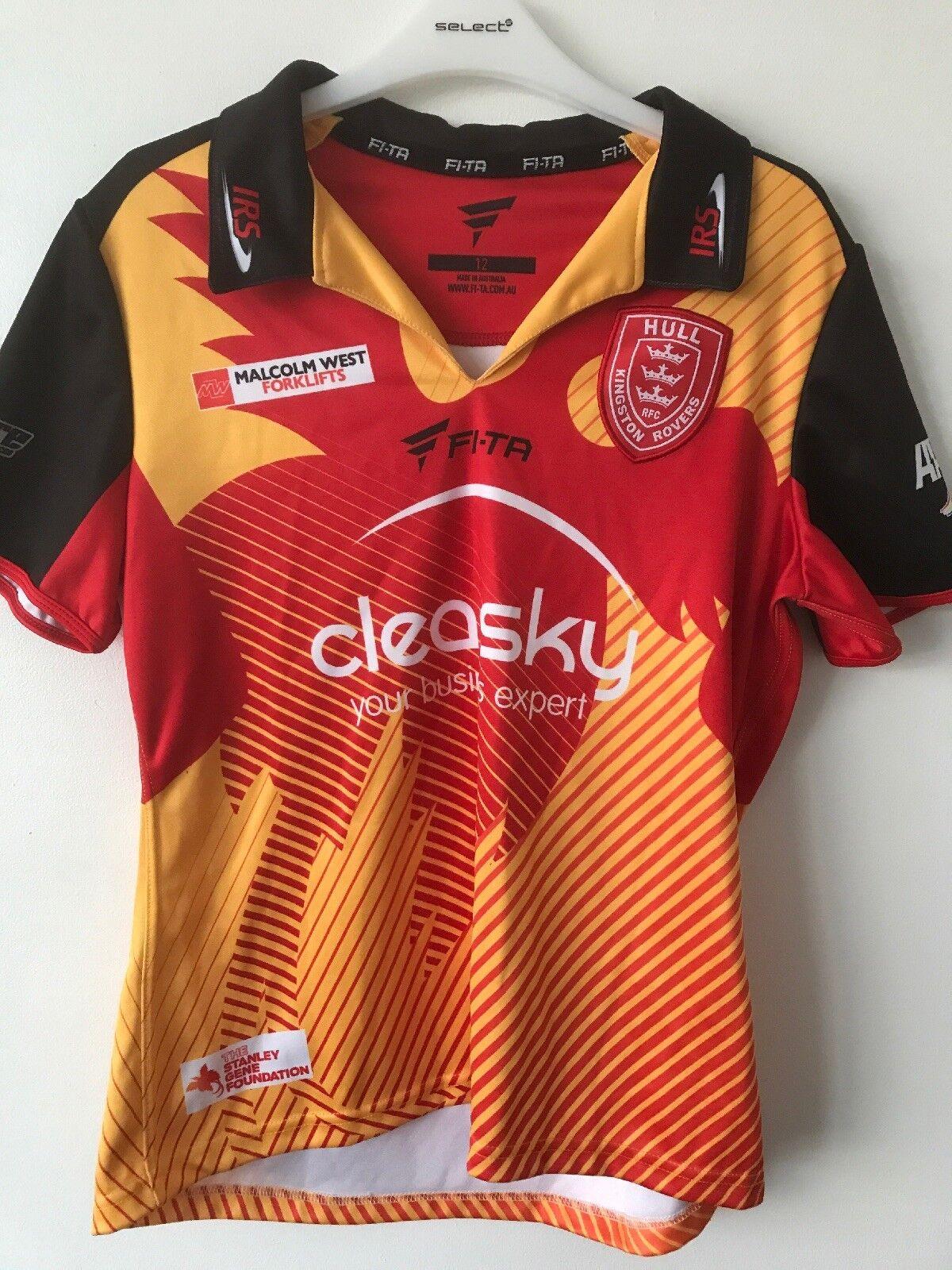 Rumpf Kingston Rovers Shirt, Stanley Gene, Größe 12 Ausgezeichnete Zustand