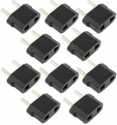 LOT 10 Pcs US USA to EU Euro Europe AC Power Wall Plug Converter Travel Adapter