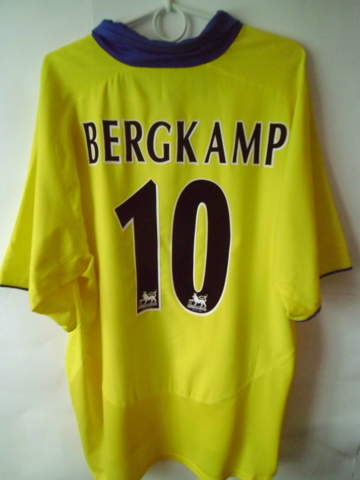 RARE    BERGKAMP    2003-05 Arsenal Arsenal 2003-05 Away Shirt Jersey Trikot XL bb02e7