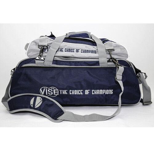 Vise Azul Marino Plata 3 Bola Tote Bolso de Bowling con Zapato Bolso