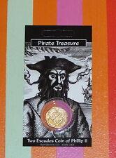 Pirates Treasure Coin Phillip II Escudos Repro Gold-Plated Spanish Spain bnip