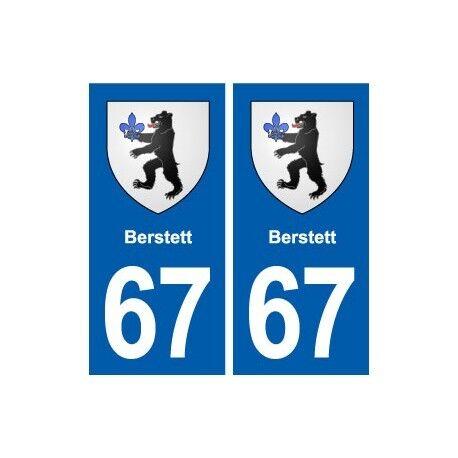 67 Berstett blason autocollant plaque stickers ville arrondis