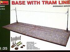Miniart 1:35 Base With Tram Line Diorama Model Kit