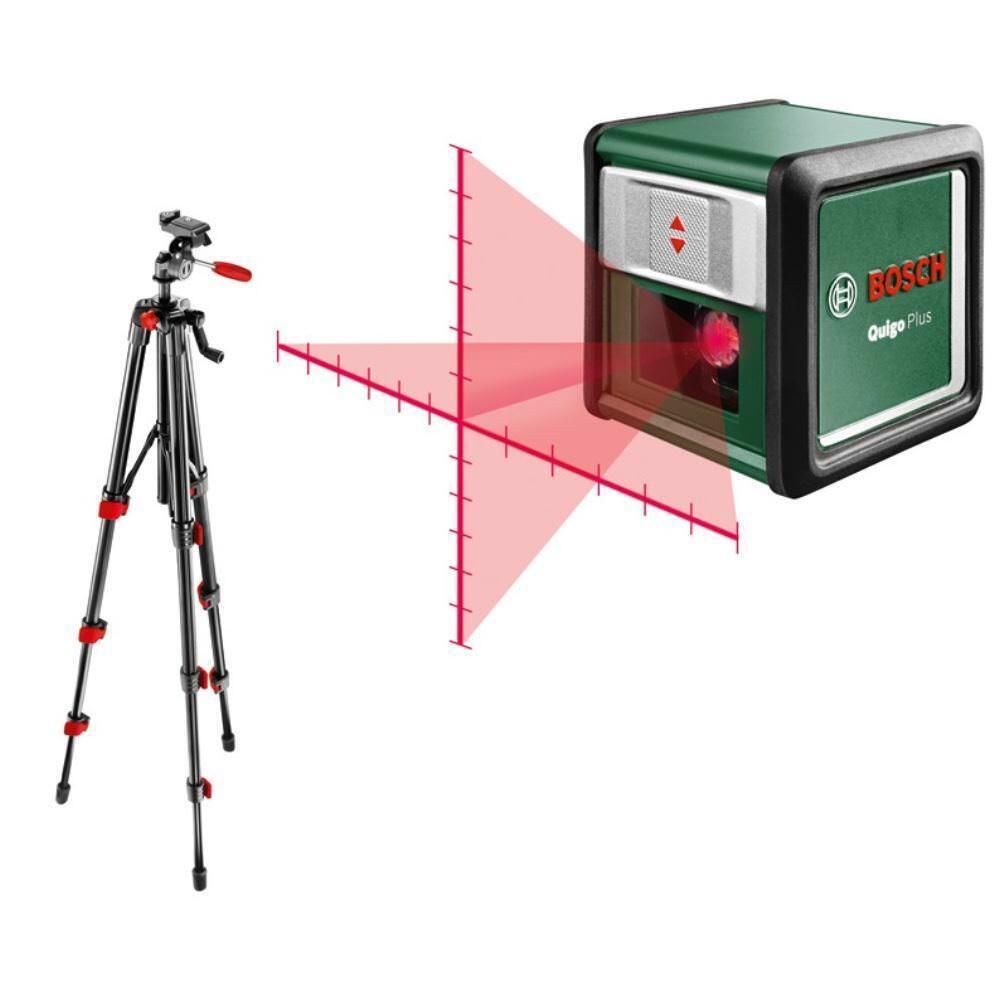 BOSCH 7 Meter Kreuzlinien-Laser Quigo Plus inkl. Stativ