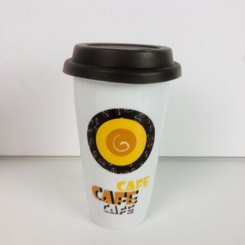 Coffee to Go céramique-Gobelet-paroi-avec Couvercle Café NEUF