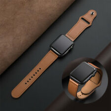 40/44MM Genuine Leather Band Strap Bracelet For Apple Watch Series 1/2/3/4/5