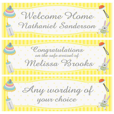 2 Personalised Baby Banners Shower