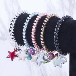 10 PCS Elastic Telephone Wire Cord Head Ties Hair Band Rope Ponytail JewelryNIU