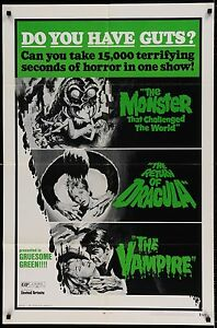 TRIO OF TERROR 1971 Movie Poster RARE #MoviePoster #Horror #BMovie #Vampire