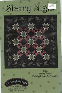 All Through The NIght - Starry Night - Pieced Quilt Pattern with ... : all through the night quilt patterns - Adamdwight.com