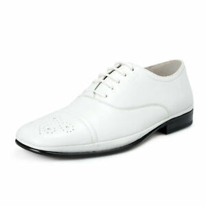 Maltes 02 White Leather Oxfords Shoes