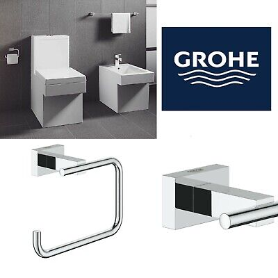 grohe essentials cube bathroom toilet roll holder