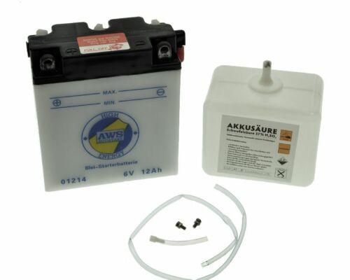 Batteriepfand 7,50€ Batterie 6V 12A passend für MZ und SIMSON Preis inkl