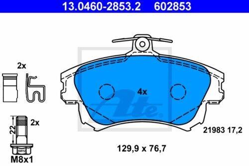 UAT Disques De Frein Revêtements Devant ø281 Mitsubishi Carisma 3887103